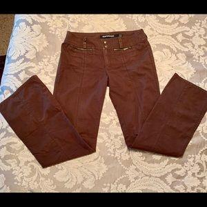 DKNY 100% Cotton Brown Pants, 4